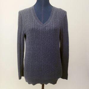 🧣Tommy Hilfiger Gray V-Neck Sweater Sz XL 🧣